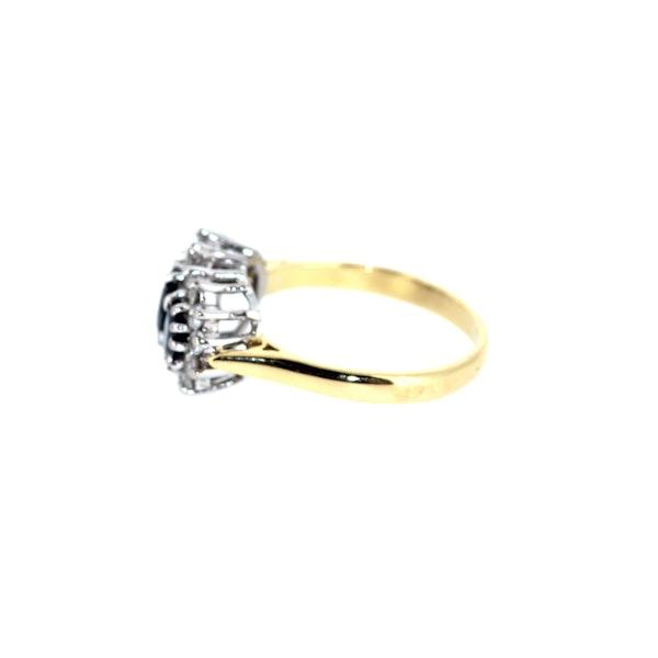 Three Stone Sapphire Cluster Ring. S.Greenstein - image 2