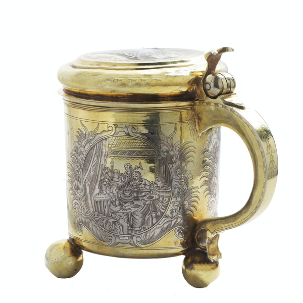 A Russian Silver Gilt Tankard, Moscow c.1745 - image 6