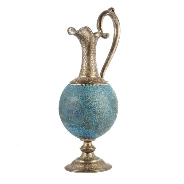 Russian Silver & Enamel Wine Jug, Moscow c. 1890 - image 2