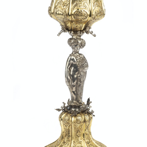 A Monumental 18th Century Russian Silver Gilt Cup & Cover, Moscow, 1749. - image 2