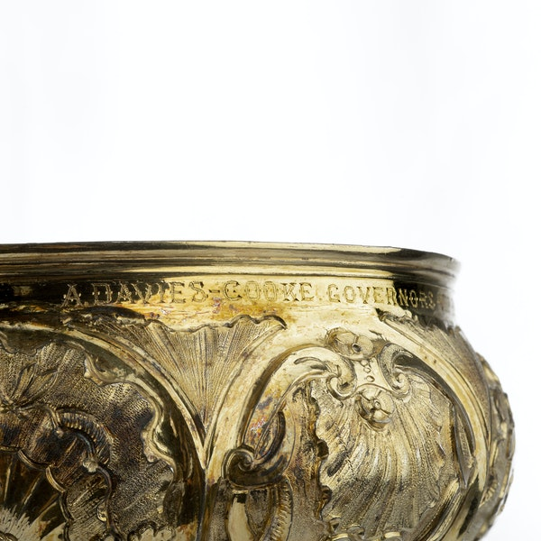 A Monumental 18th Century Russian Silver Gilt Cup & Cover, Moscow, 1749. - image 6