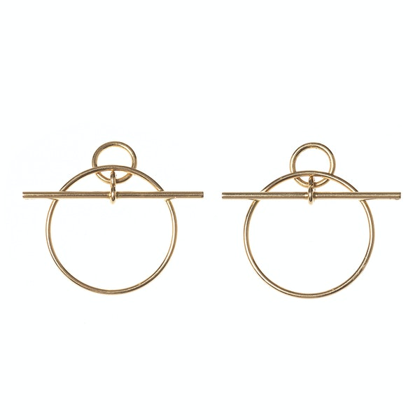 Vintage Hermès Earrings of Circular Hoops in an Abstract Design, French circa 1980. - image 2