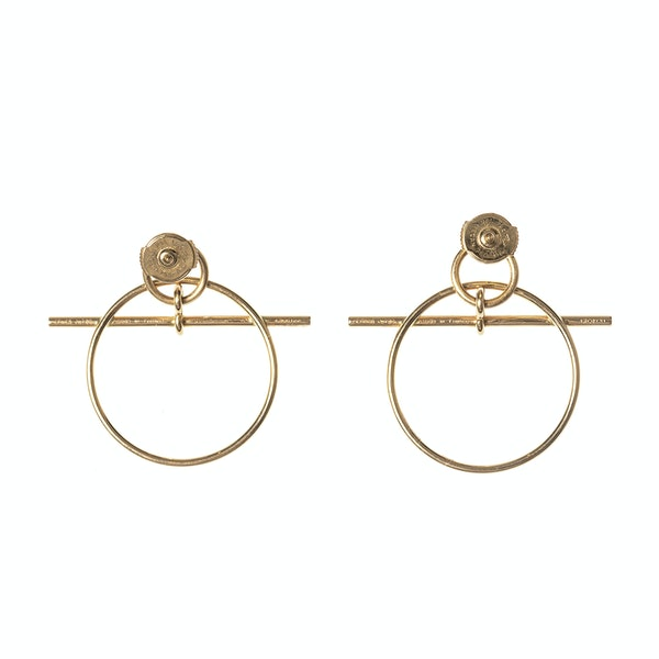 Vintage Hermès Earrings of Circular Hoops in an Abstract Design, French circa 1980. - image 3