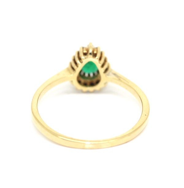 Pear Shaped Emerald Cluster Ring. S.Greenstein - image 3