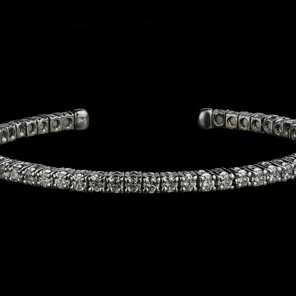 18K white gold Diamond Bangle - image 2
