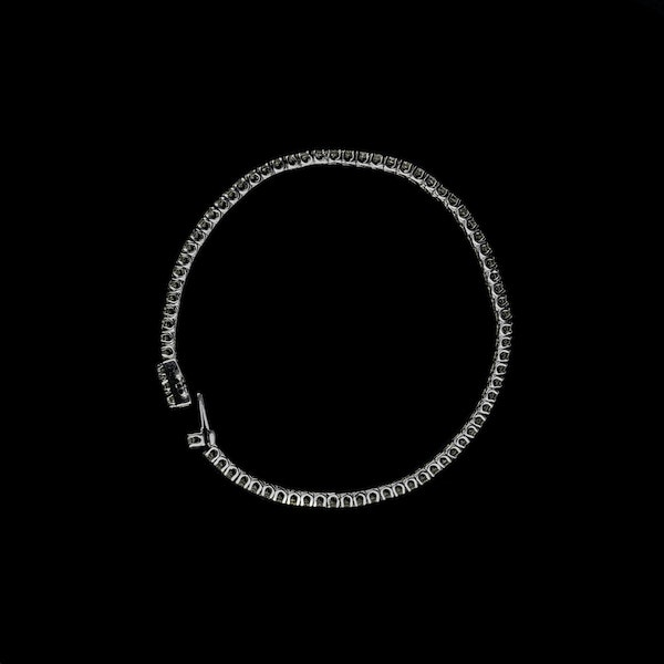 18K white gold 3.34ct Diamond Line Bracelet - image 1