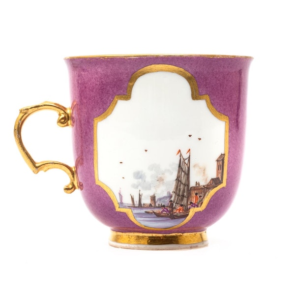 18th century Meissen cabinet cup and saucer - image 3