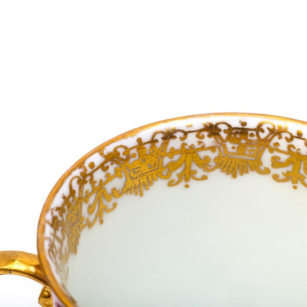 18th century Meissen cabinet cup and saucer - image 5