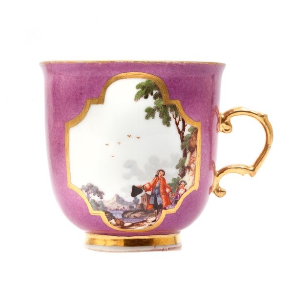 18th century Meissen cabinet cup and saucer - image 2