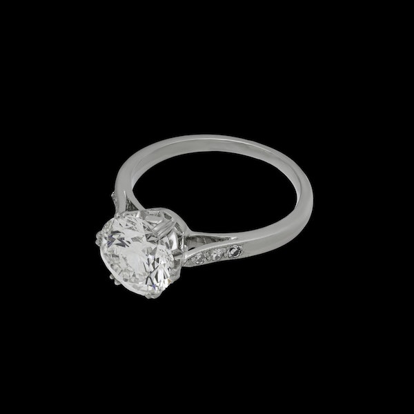 Platinum 2.23ct Diamond  Solitaire Engagement Ring - image 1