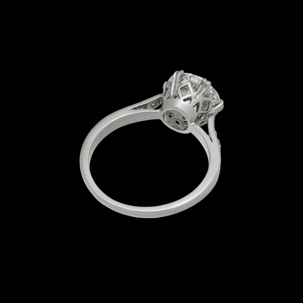 Platinum 2.23ct Diamond  Solitaire Engagement Ring - image 2