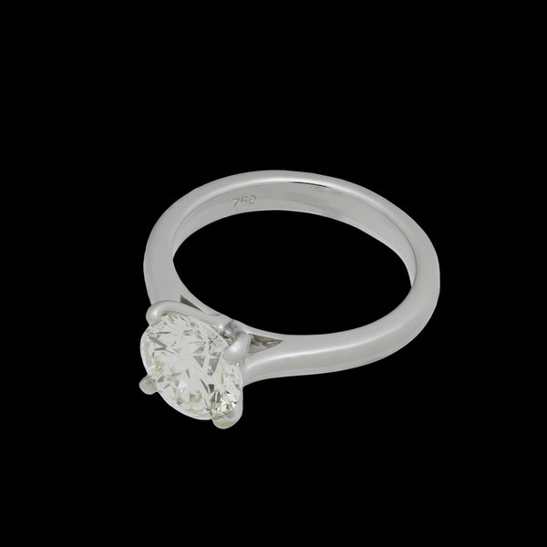18K white gold 2.01ct Diamond Solitaire Engagement Ring - image 1
