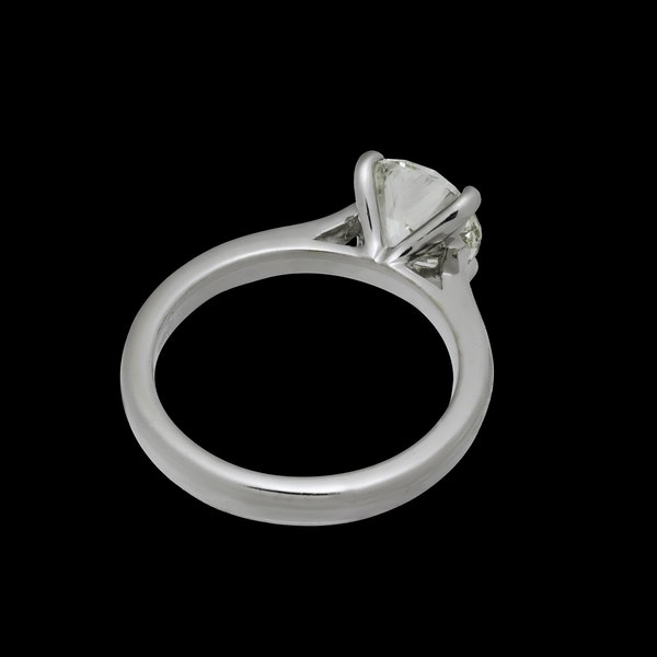 18K white gold 2.01ct Diamond Solitaire Engagement Ring - image 2