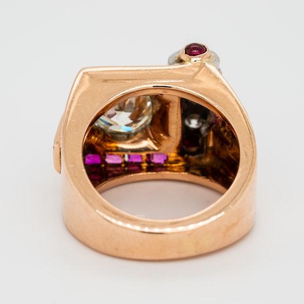 Retro diamond and ruby ring - image 4