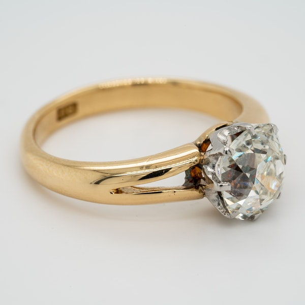 Gold diamond solitaire ring 2.86 ct - image 2