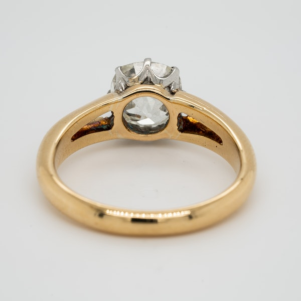 Gold diamond solitaire ring 2.86 ct - image 4