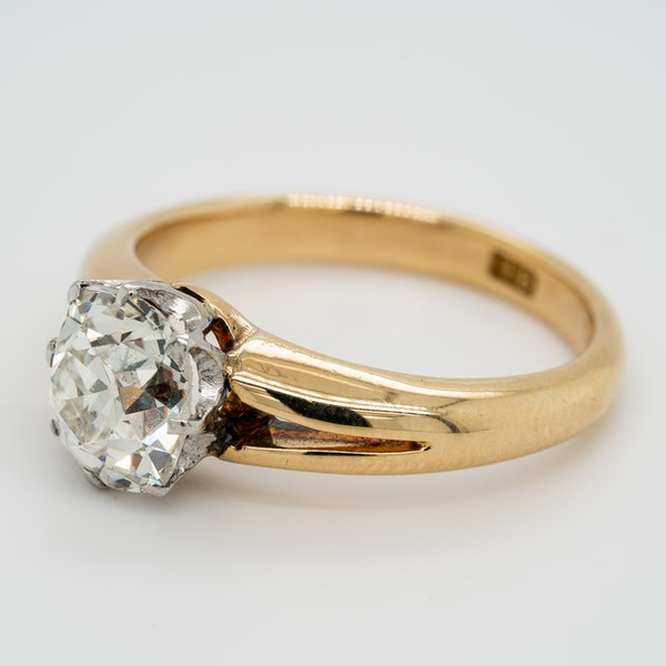 Gold diamond solitaire ring 2.86 ct - image 3