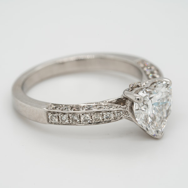 1.46 ct diamond heart cut ring - image 2