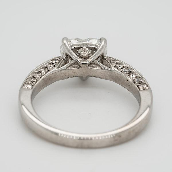 1.46 ct diamond heart cut ring - image 4