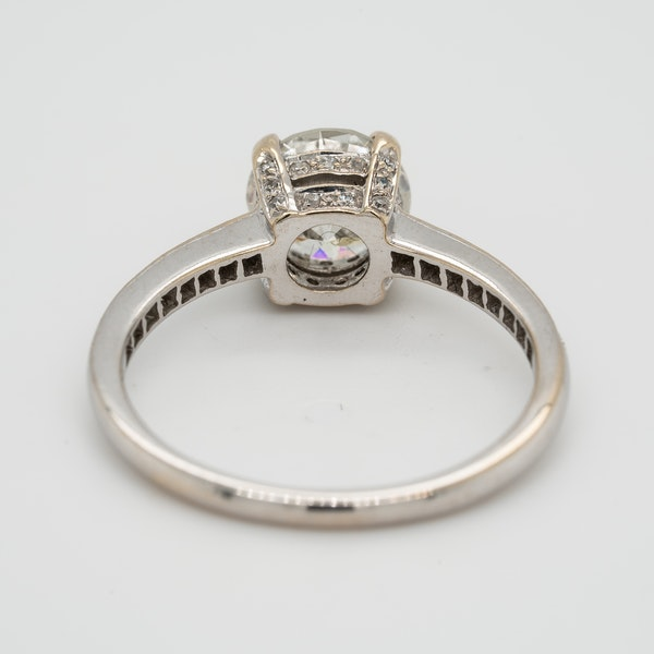 Diamond solitaire Ring . 1.20 ct est. centre diamond - image 4
