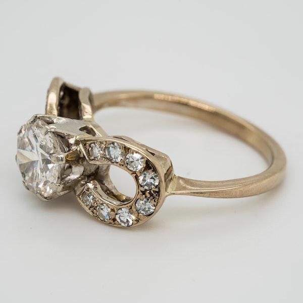 Diamond solitaire ring. Centre stone 1.10 ct est. - image 3