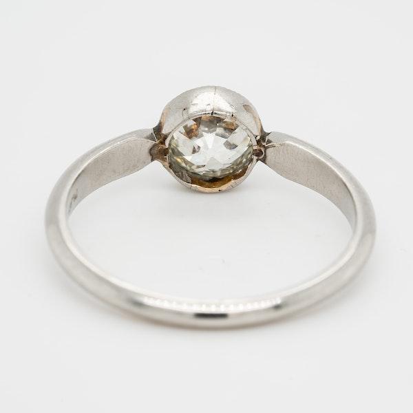 Diamond solitaire ring cushion cut 1.15 ct est. diamond - image 4