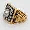 Antique diamond  gents/ladies signet ring - image 3