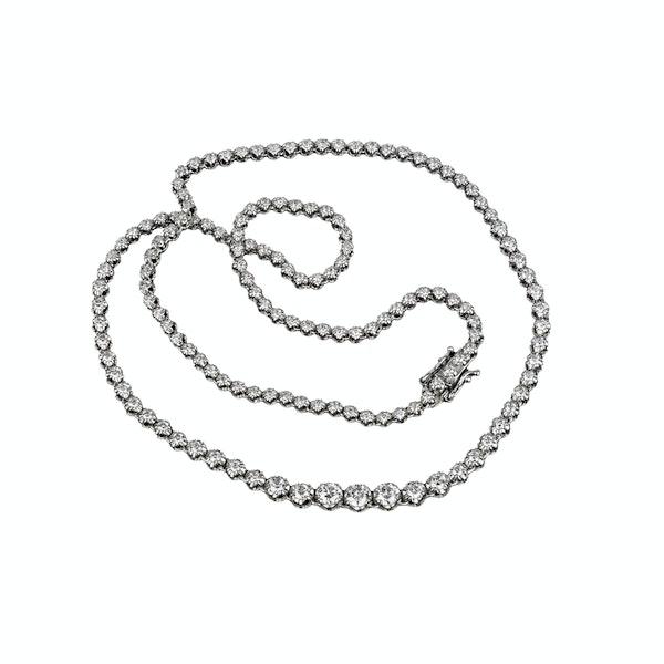18K white gold 4.50ct Riviera Diamond Necklace - image 1