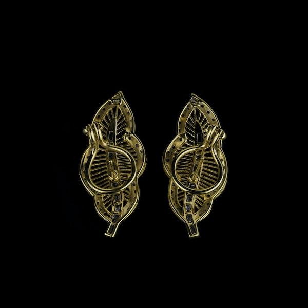 18K yellow gold 1.78ct Diamond Earrings - image 1