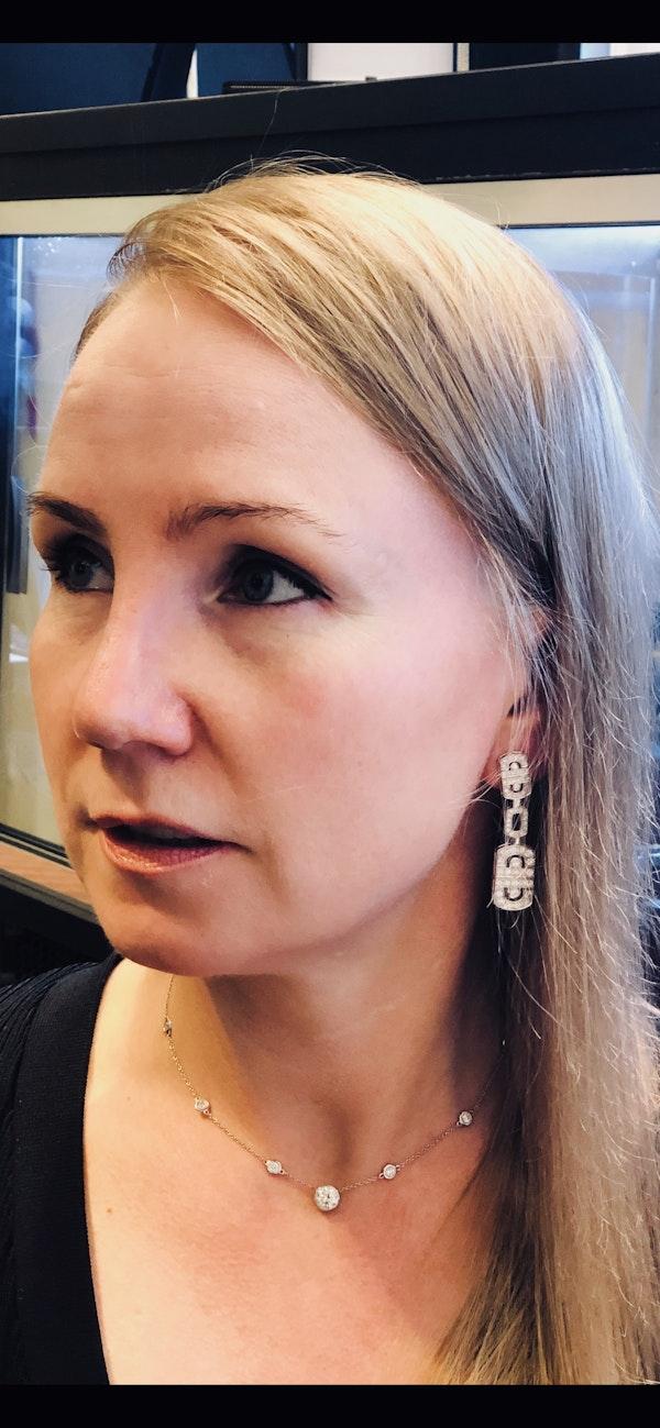 18K white gold 2.68ct Diamond Earrings - image 1