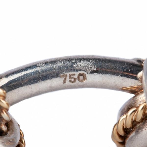 Vintage Tiffany Cufflinks of Knots in 18 Karat Gold & Silver, USA circa 1950. - image 3
