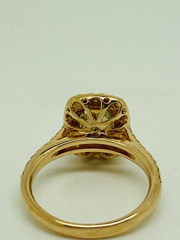18K Yellow Gold 2.22ct  Natural Fancy Yellow Diamond Ring - image 4