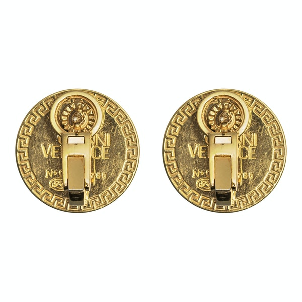 Vintage Gianni Versace Earrings of Medusa in 18 Karat Gold and Diamonds, Italian circa 1980. - image 4