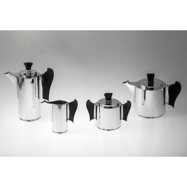 Stylish Sterling Silver 4 Piece Tea Set - image 1