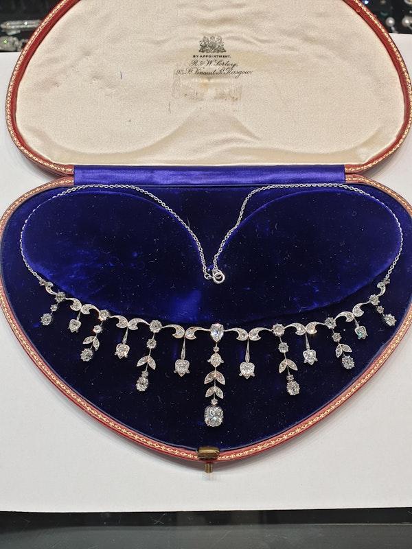 Antique diamond fringe necklace  DBGEMS - image 2
