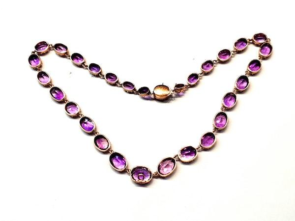 Antique amethyst riviere necklace  DBGEMS - image 2
