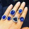 18K white gold, 12.19ct Natural Blue Sapphire Ring - image 2