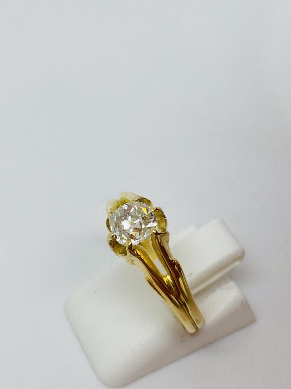 18K yellow gold 0.60ct Diamond Ring - image 1