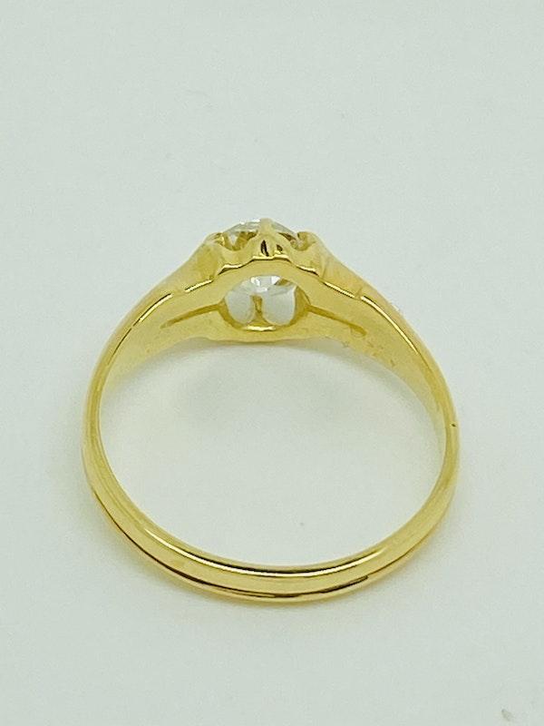 18K yellow gold 0.60ct Diamond Ring - image 3