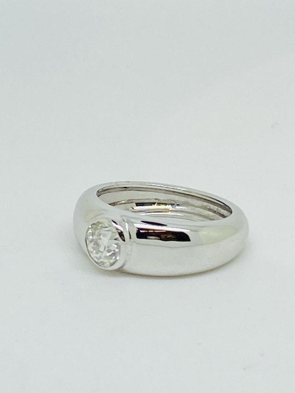 18K white gold 0.55ct Diamond Ring - image 2