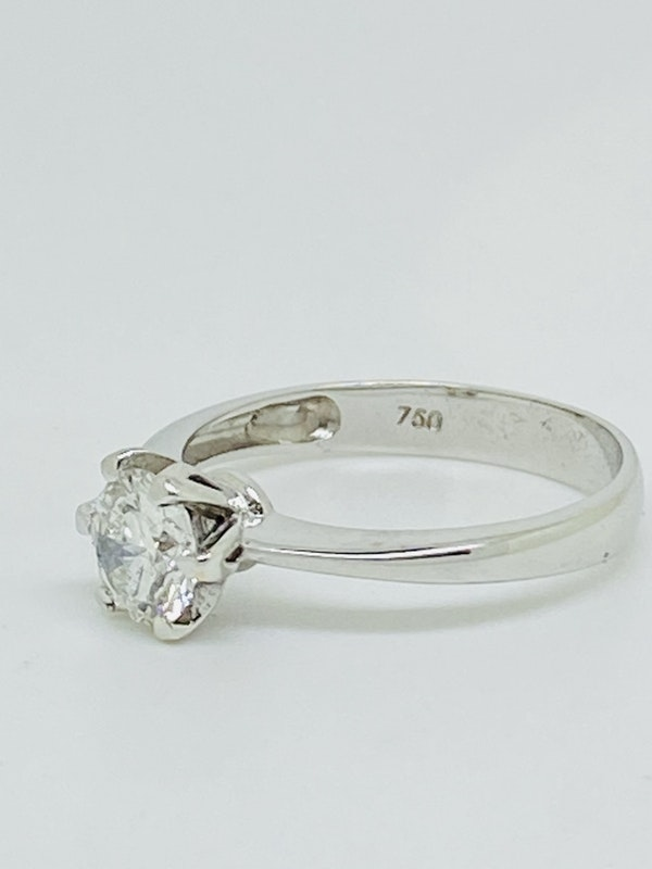 18K white gold, 0.75ct Diamond Solitaire Engagement Ring - image 1