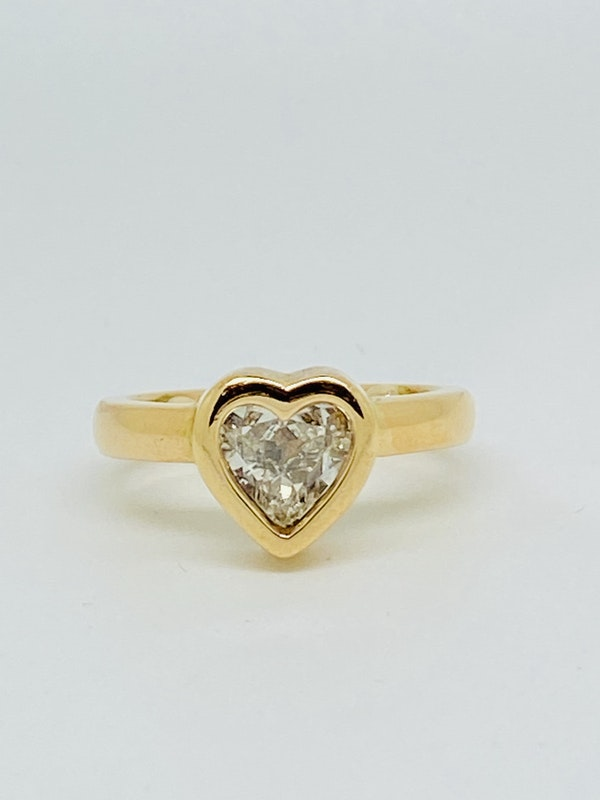 18K yellow gold, 1.16ct Diamond Solitaire Engagement Ring - image 1