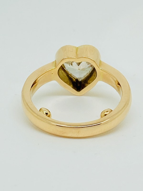 18K yellow gold, 1.16ct Diamond Solitaire Engagement Ring - image 4