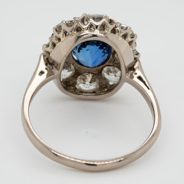 Sapphire and diamond cluster engagement ring  DBGEMS - image 4