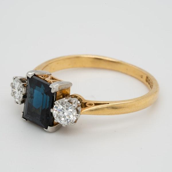 Garrards Sapphire and Diamond Engagement Ring  DBGEMS - image 2