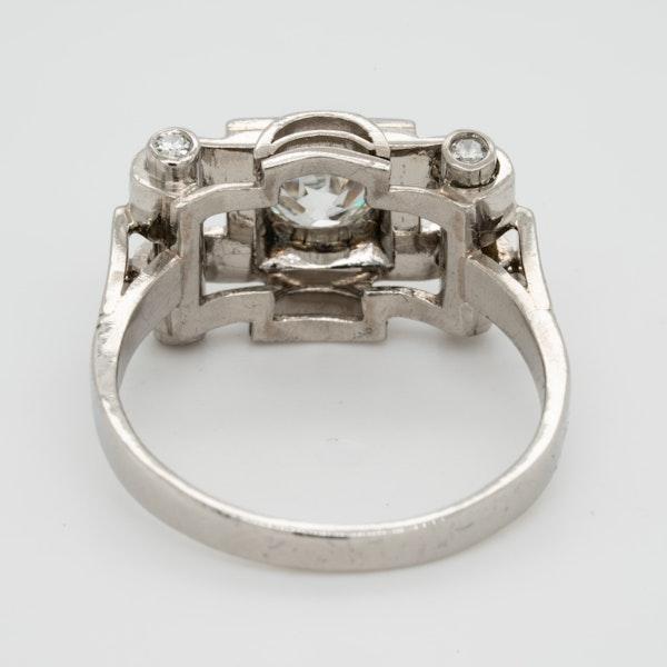 Art deco diamond engagement ring  DBGEMS - image 4