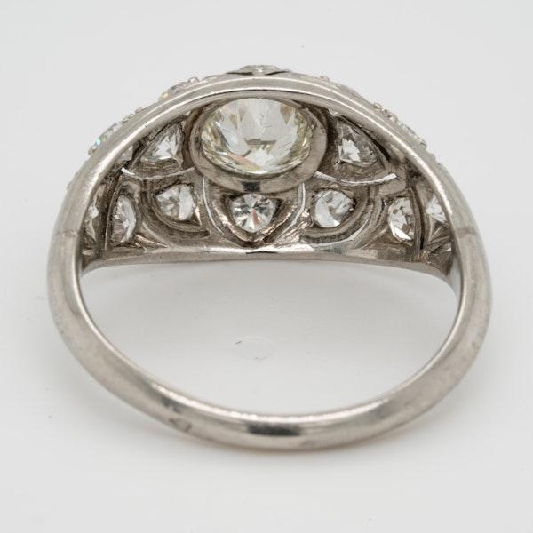 French Art Deco Diamond Ring  DBGEMS - image 3