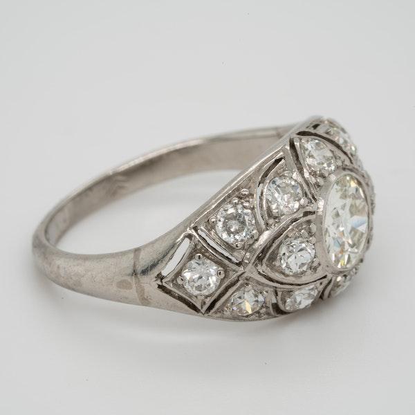 French Art Deco Diamond Ring  DBGEMS - image 2