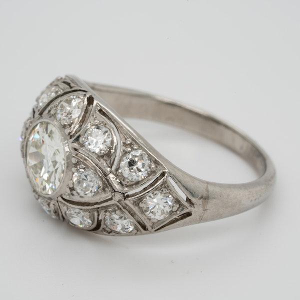 French Art Deco Diamond Ring  DBGEMS - image 4