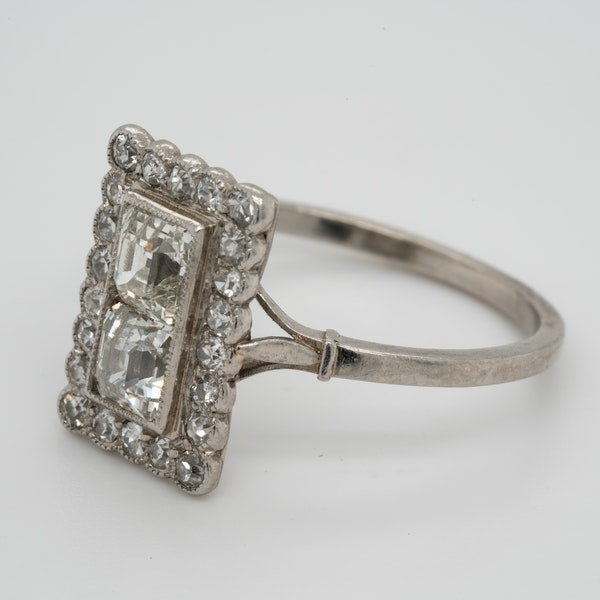 Art deco square cushion cut diamond ring  DBGEMS - image 4
